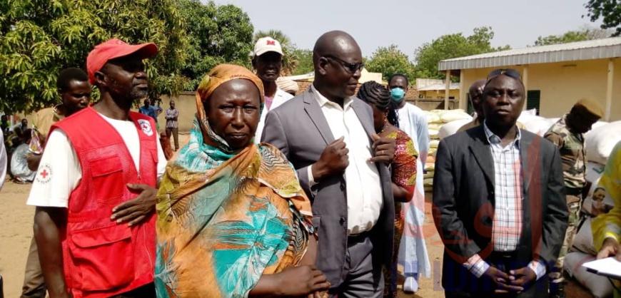 Tchad : plus de 12 tonnes d'aide alimentaire réceptionnés dans la Tandjilé. © Éric Guedi/Alwihda Info