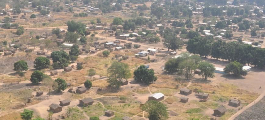 Vue aérienne de Ndélé en République centrafricaine. © OCHA/L.Fultang