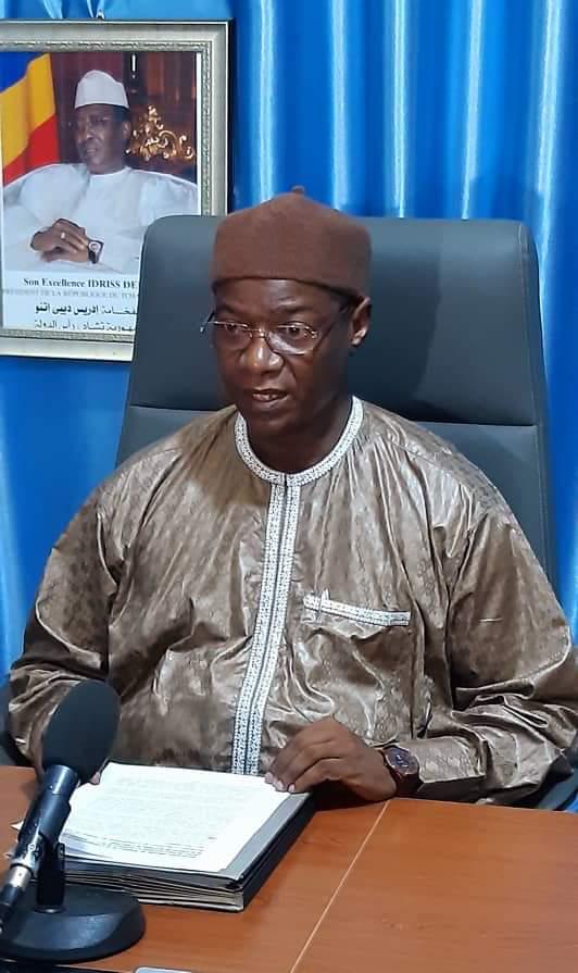 Le ministre de la Communication, porte-parole du gouvernement, Oumar Yaya Hissein.