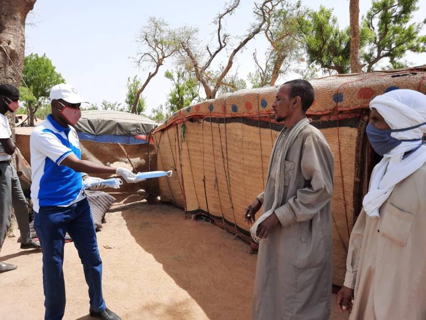 Tchad : des masques distribués aux couches vulnérables à N'Djamena