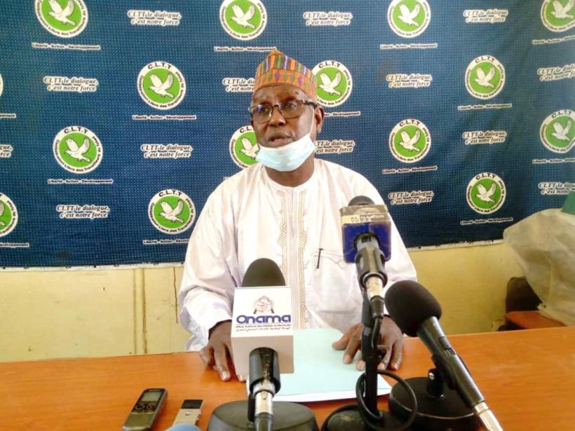 Le secrétaire général de la Confédération Libre de Travailleurs du Tchad (CLTT), Brahim Ben Said.