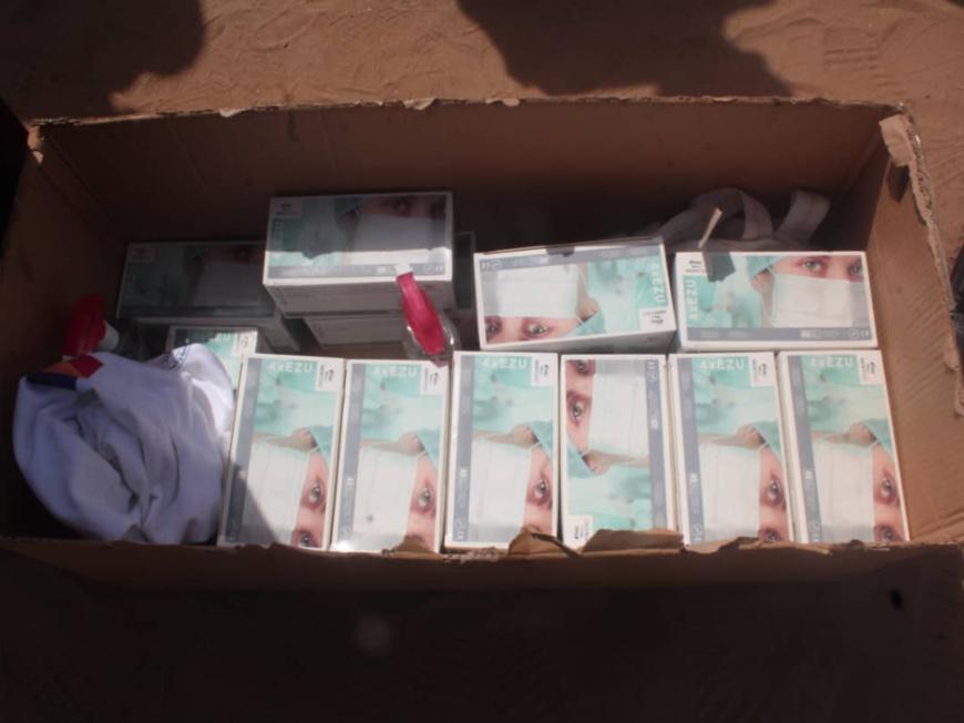 تشاد: توزيع أكثر من 200 قناع من قبل جمعية الصفا من أجل التنمية والعمل الإنساني.