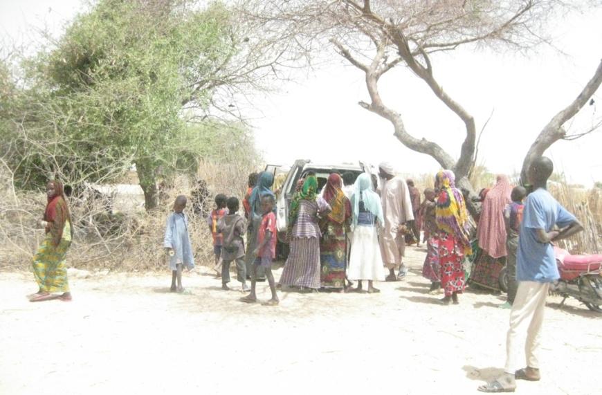 Des déplacés des violences de Boko Haram au Lac Tchad. Illustration © Alwihda Info