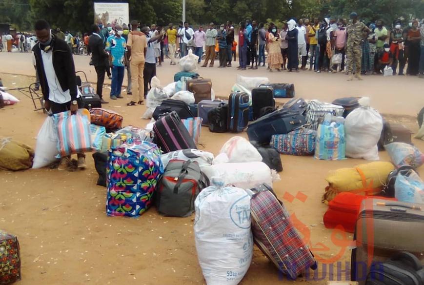 Tchad : Les étudiants repartent au Cameroun pour la reprise des cours. ©Frédéric Ngardodim/Alwihda Info