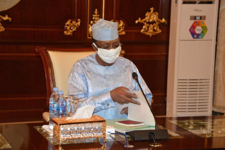 Le chef de l'État Idriss Déby, le 3 juin 2020. © PR