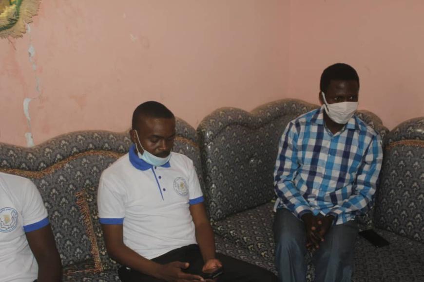 Tchad-Covid 19 : l'Union Générale des Jeunes Tchadiens offre un don à Alwihdainfo : ©️ Aristide Djimalde /Alwihda Info