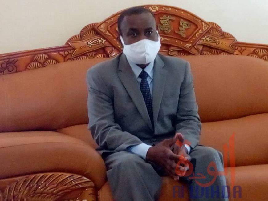 Le coordonnateur national de riposte sanitaire, Pr. Choua Ouchemi. © Golmem Ali/Alwihda Info