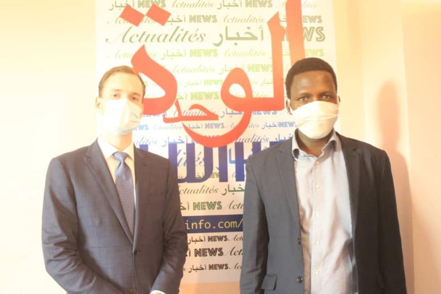 Tchad : visite d'un représentant de l'ambassade de France à Alwihda Info