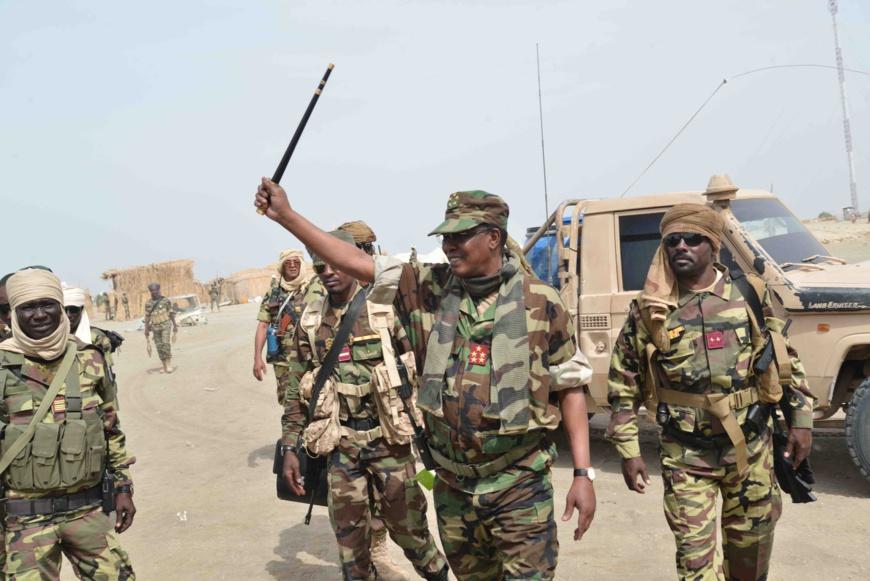 Le chef de l'État Idriss Déby lors de l'opération Colère de Boma. © PR