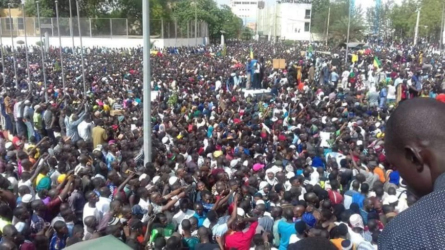 Des manifestations populaires au Mali. © DR/Bamada