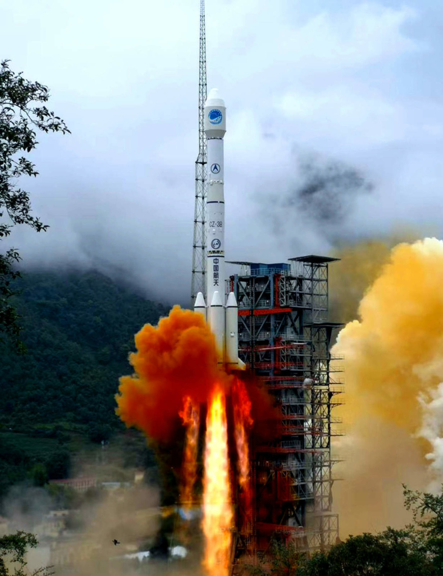 China launched the last satellite of the BeiDou Navigation Satellite System on a Long March-3B rocket from the Xichang Satellite Launch Center in Sichuan at 9:43 am on June 23. Photo by Li Jieyi/People's Daily Online