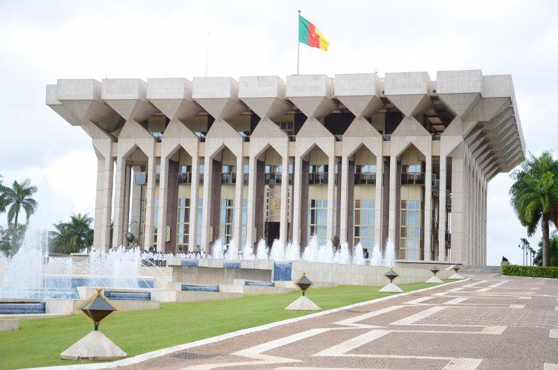 Le Palais de l'Unité à Yaoundé.