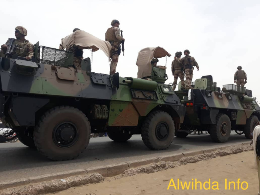 Un convoi de militaires français à N'Djamena. Illustration © Alwihda Info