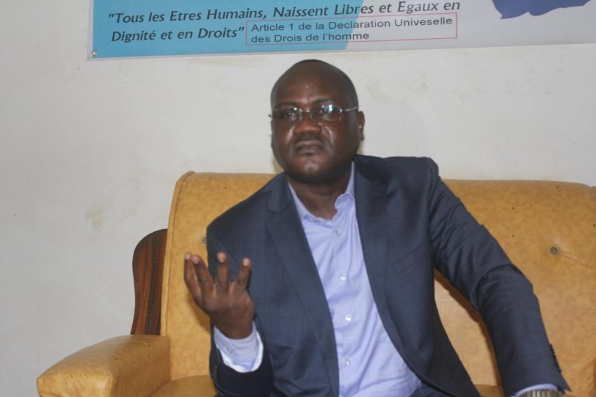 Le coordonnateur national de la CASCIDHO Mahamat Digadimbaye. © Kelvin Djetoyo/Alwihda Info