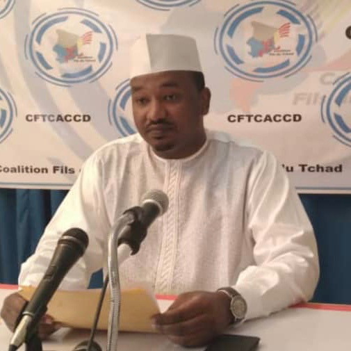 Le président de la coalition Fils du Tchad, Fayçal Hissein Hassan Abakar. ©Abakar Chérif Hamid/Alwihda Info
