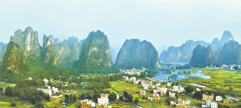 Photo shows the stunning scenery of Yingde, Qingyuan, South China's Guangdong Province. Photo/Courtesy of official website of Qingyuan municipal government