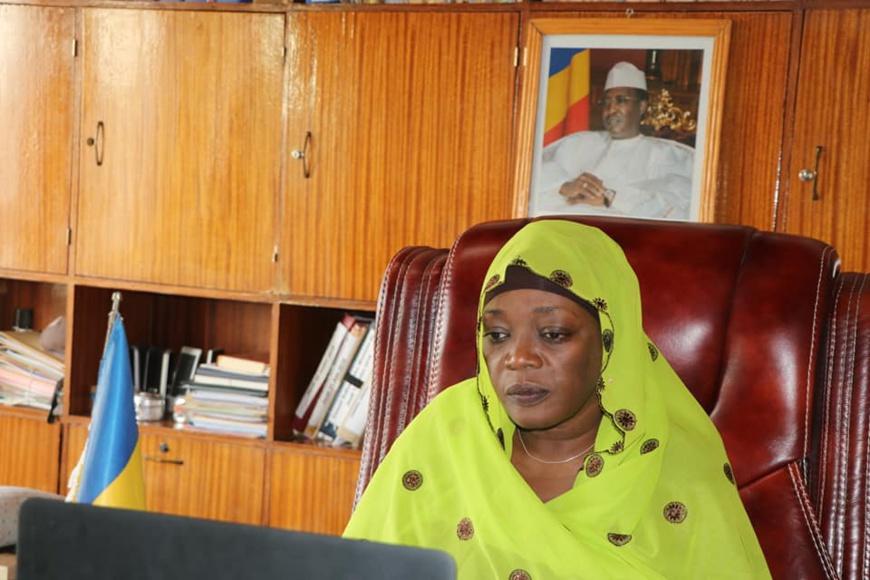 La secrétaire d'État du Tchad aux Affaires étrangères, Mme. Achta Saleh Damane. © DR/Tchad Diplomatie