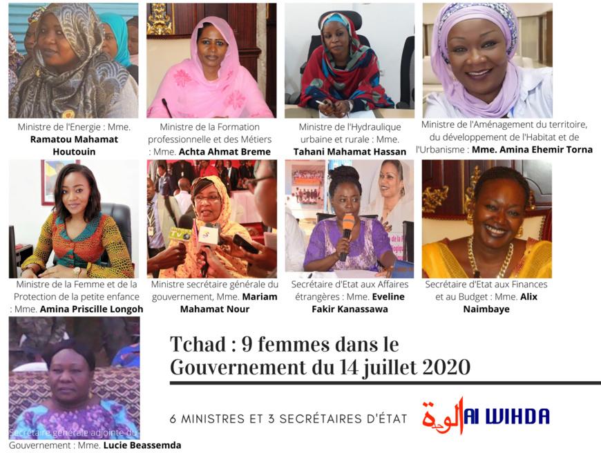 Tchad : neuf femmes dans le nouveau gouvernement. © Alwihda Info
