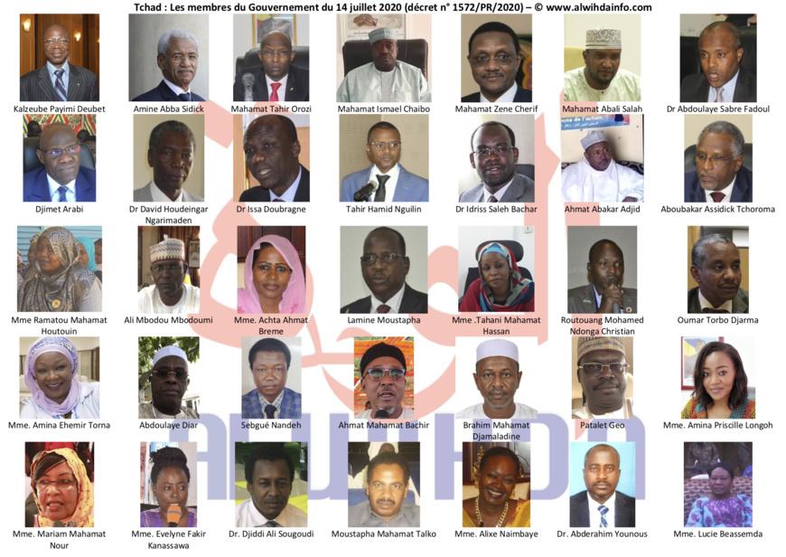 Tchad : les visages des 35 membres du nouveau Gouvernement