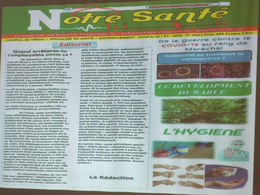 """Tchad : le nouveau journal """"Notre Santé"""" voit le jour"""