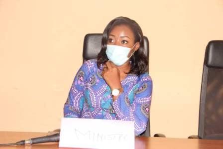 La ministre de la Femme et de la Protection de l'enfance, Amina Priscille Longoh. © DR/Min.Femme