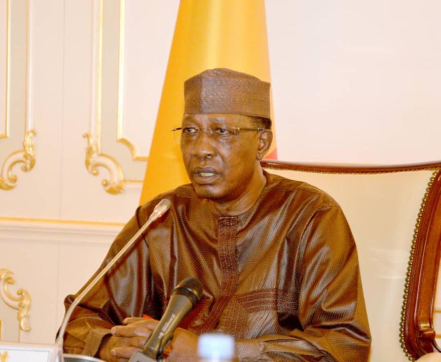 Le chef de l'État Idriss Déby. © PR