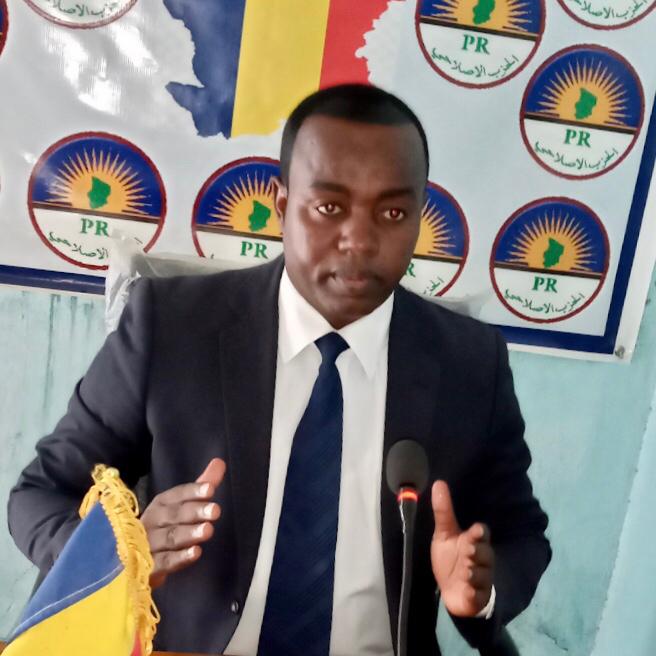 Le président du Parti Réformiste, Yacine Abderamane Sakine. © Abakar Chérif/Alwihda Info