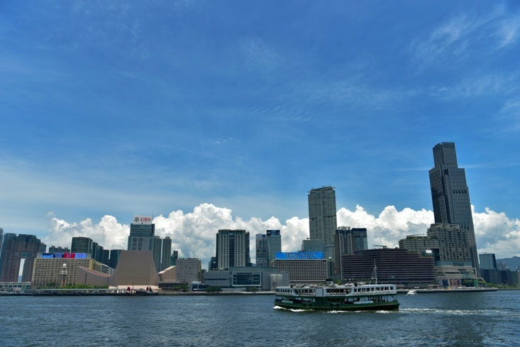 Photo taken on July 27, 2019 shows the view of the Victoria Harbor, Hong Kong. People's Daily Online/Duan Changzheng
