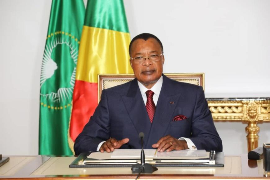 Le président Denis Sassou N'guesso s'adressant à la Nation
