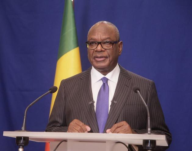 L'ex-président Ibrahim Boubakar Keïta. © Twitter IBK
