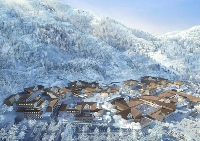 A design sketch of the Yanqing Winter Olympics Village. Photo from Beijing News Radio