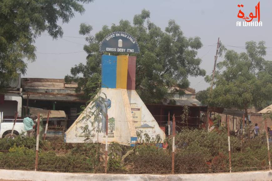 Un rond-point à Pala, au Mayo Kebbi Ouest. © Foka Mapagne/Alwihda Info