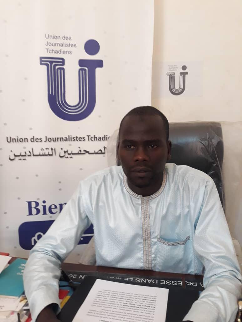 Le président de l'Union des journalistes tchadiens (UJT), Abbas Mahamoud Tahir. © UJT