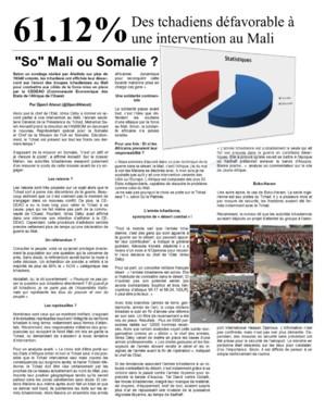 "Tchad : ""So"" Mali ou Somalie ?"