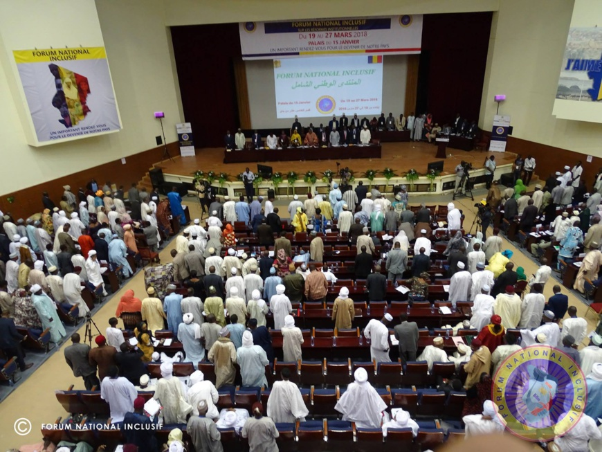 Le Forum national inclusif à N'Djamena le 22 mars 2018. © Forum National Inclusif