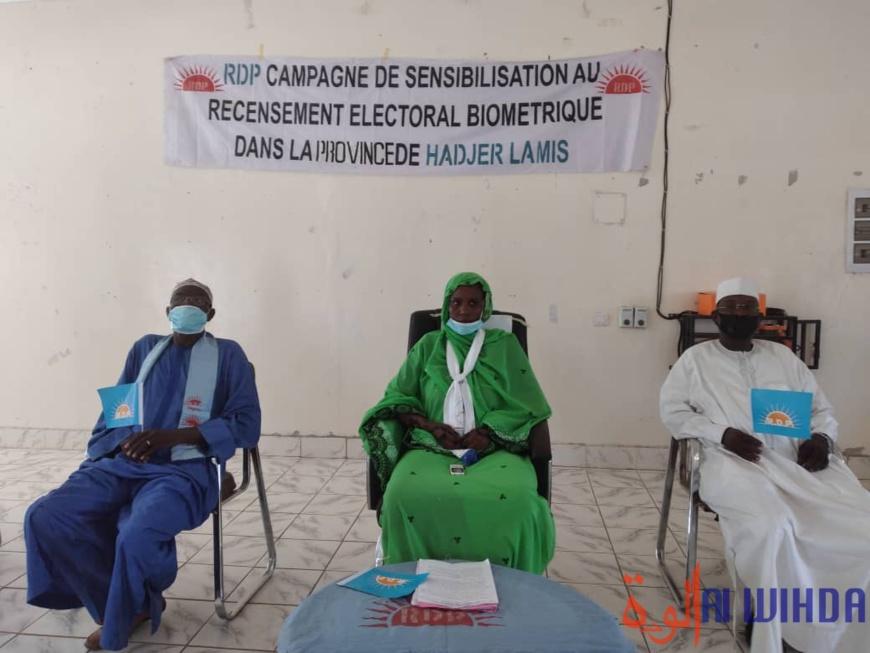 Tchad : le parti RDP appelle la population du Hadjer Lamis à s'inscrire sur le fichier électoral