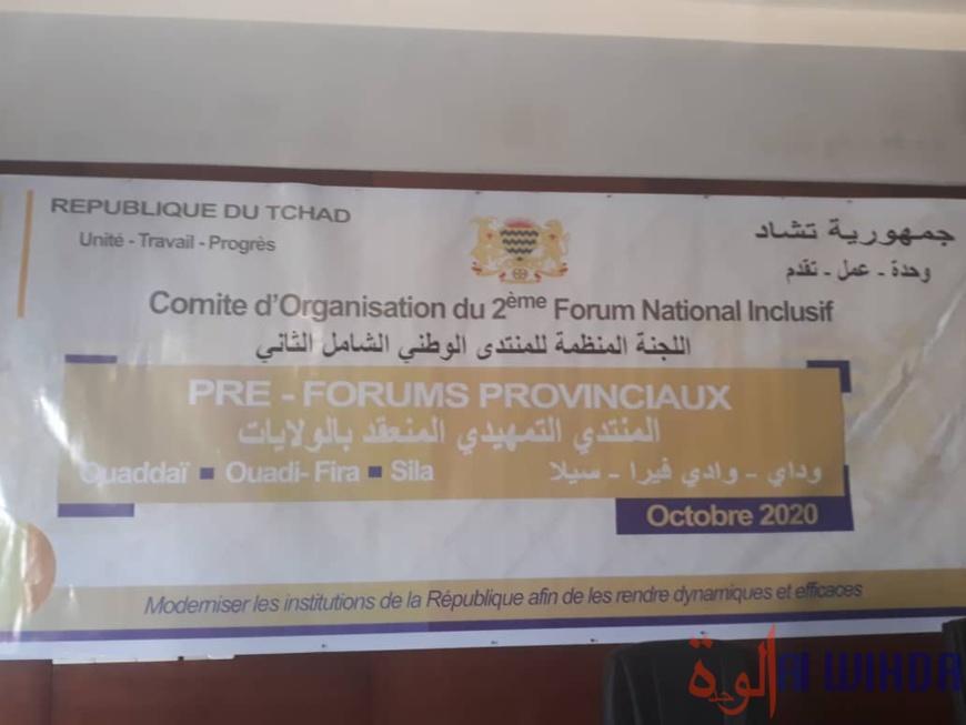 Tchad : les pré-forums décentralisés lancés à l'Est pour trois provinces