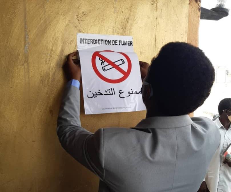 Tchad : des signalétiques anti-tabac affichées dans les lieux publics