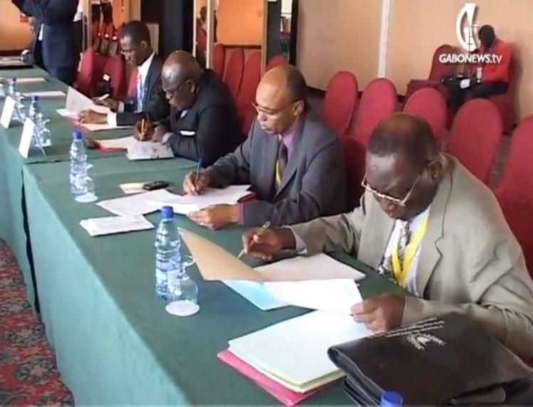 Ahmat Yacoub Dabio lors des assises de la réunion des Médiateurs de l'Afrique Centrale. Gabon. Crédits photos : TV Gabon
