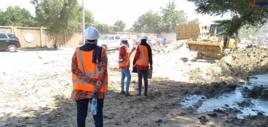 Des femmes ingénieurs lancent des travaux d'aménagement de rues à N'Djamena, le 21 octobre 2020. © Ben Kadabio/Alwihda Info