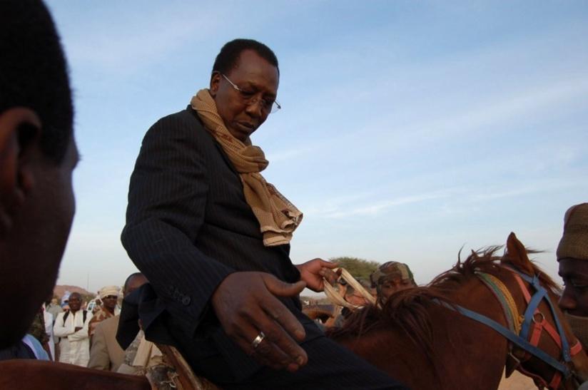 Idriss Déby à Fada, en février 2012 (Pierre Haski/Rue89)