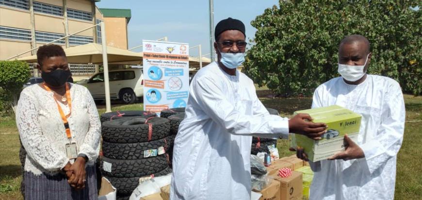 Tchad - Covid-19 : un don de matériel remis à la coordination de riposte sanitaire