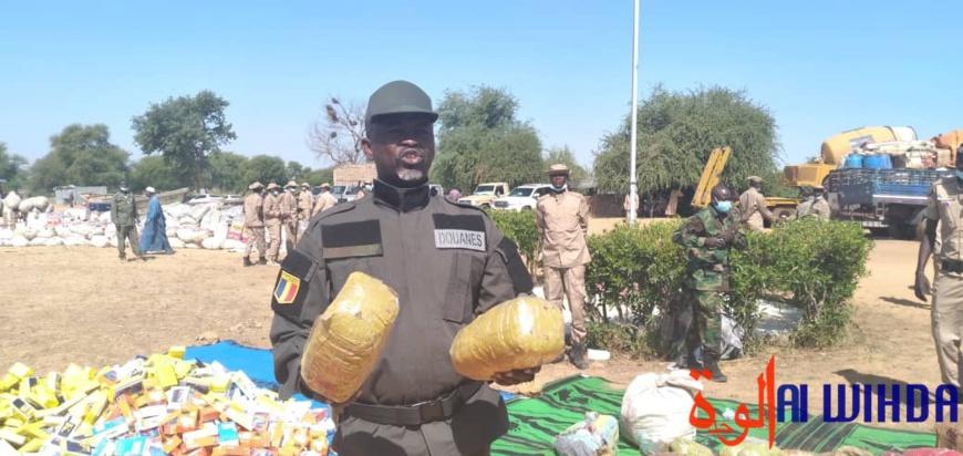 Tchad : des produits illicites saisis par les services des douanes