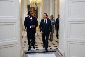 Idriss Déby et François Hollande au Palais de l'Elysée. Crédits photos : Elysée