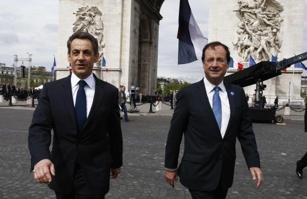 Nicolas Sarkozy et François Hollande. Crédits photos : Sources