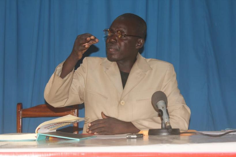 Le président du Collectif tchadien contre la vie chère (CTVC), Dingamnayal Nely Versinis. © Ben Kadabio/Alwihda Info