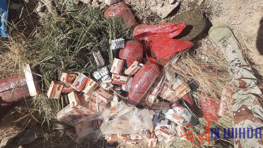 Tchad : les autorités du Ouaddaï ordonnent l'incinération d'une saisie de stupéfiants. © Hambali Nassour Ourada/Alwihda Info
