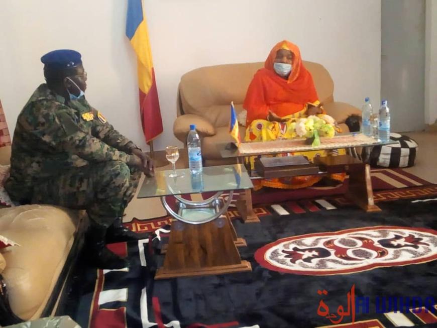 Tchad : le DG de la Gendarmerie nationale en mission de travail au Hadjer-Lamis. © Mbainaissem Gédéon Mbeïbadoum/Alwihda Info