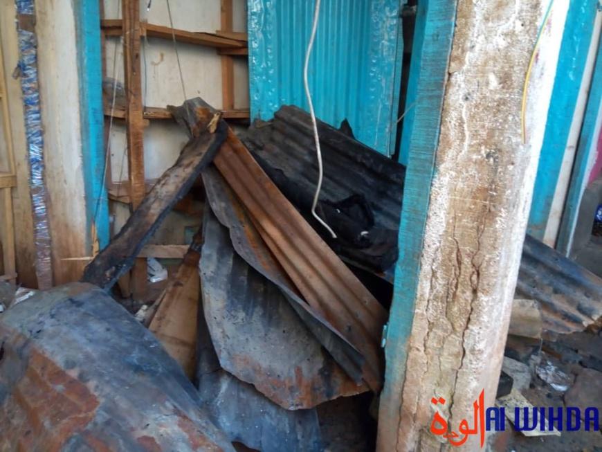 Tchad : des boutiques calcinées dans l'incendie d'un marché à Moundou