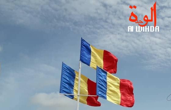 Des drapeaux du Tchad en berne. Archives © Djimet Wiche/Alwihda Info
